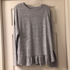 Banana Republic long sleeve grey top
